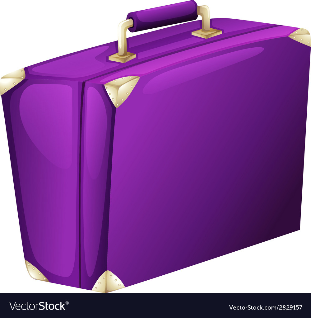 A purple case bag vector