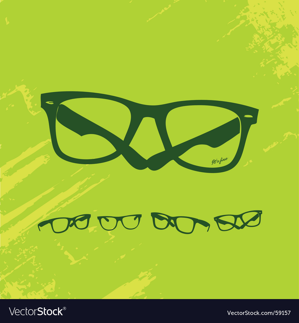 Hip glasses series vector