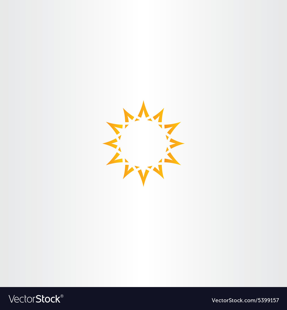 Sun star yellow icon logo design vector