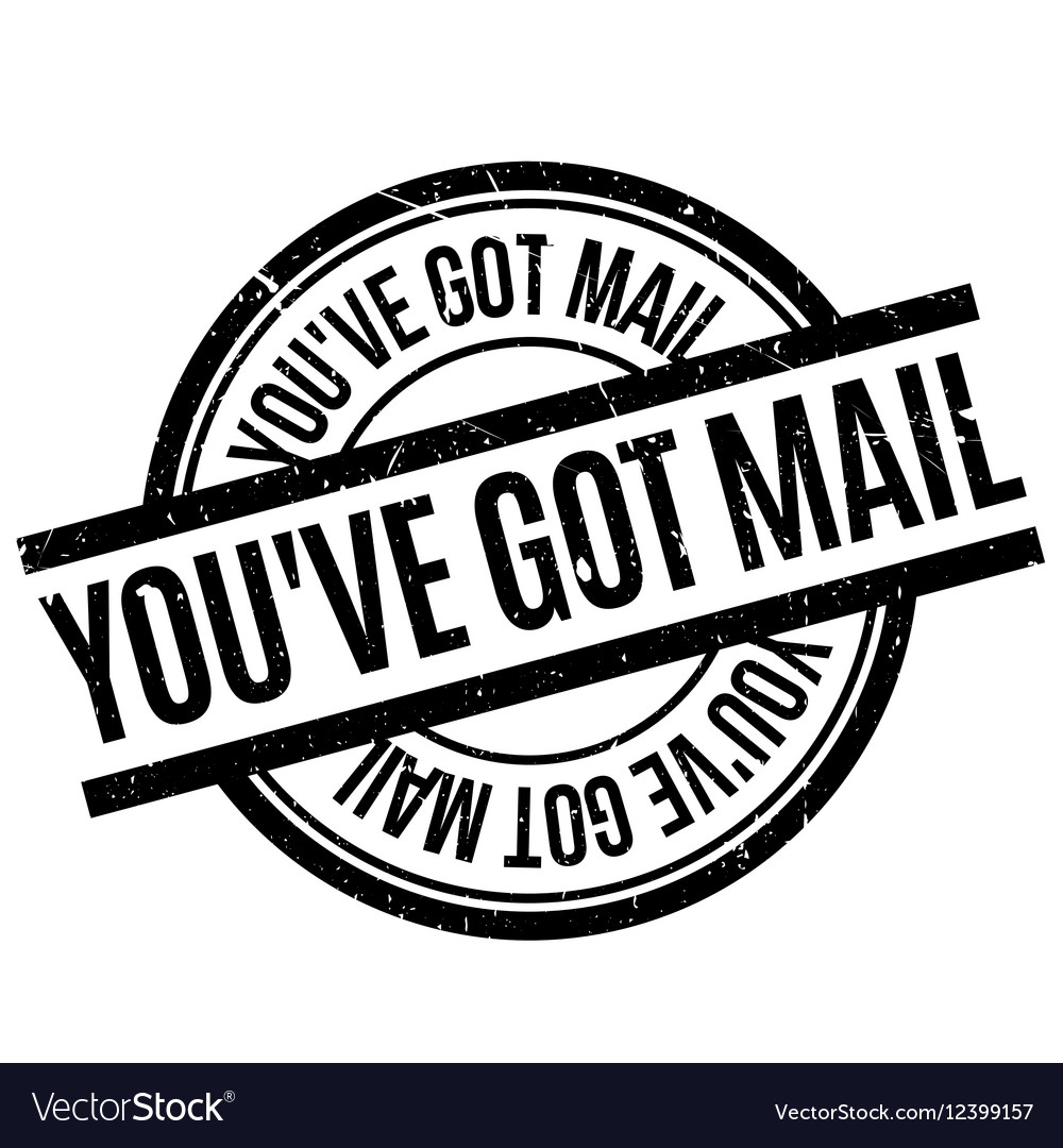 You have got mail rubber stamp vector
