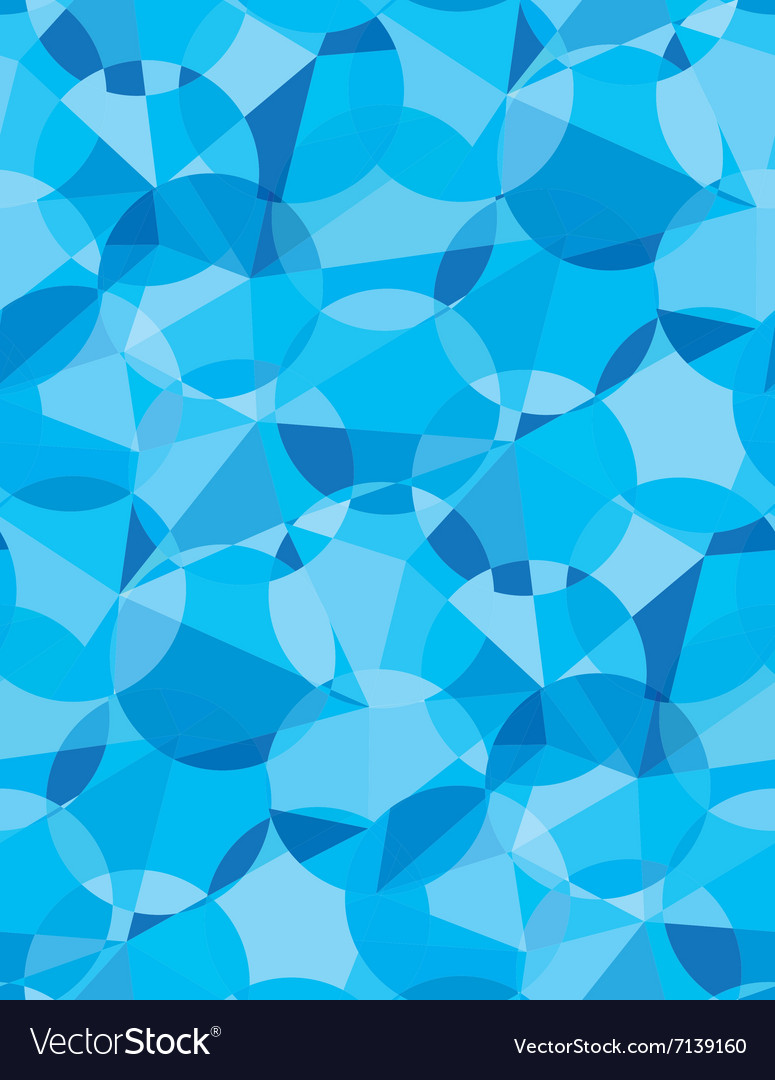 Seamless blue color geometric pattern vector