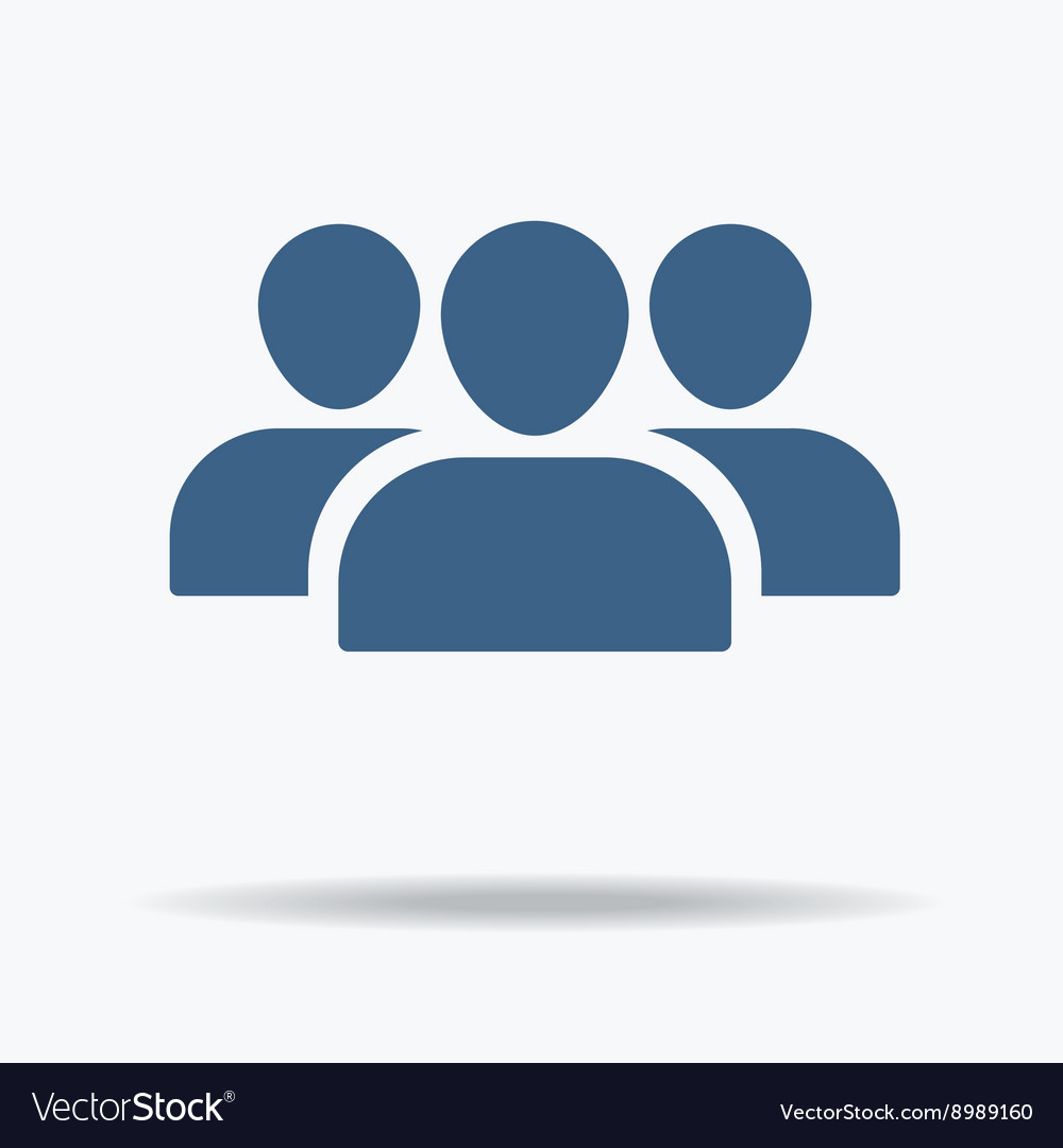 User profile group set icon symbol flat icon one vector