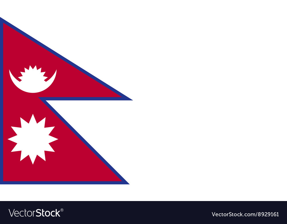 Nepal flag image vector
