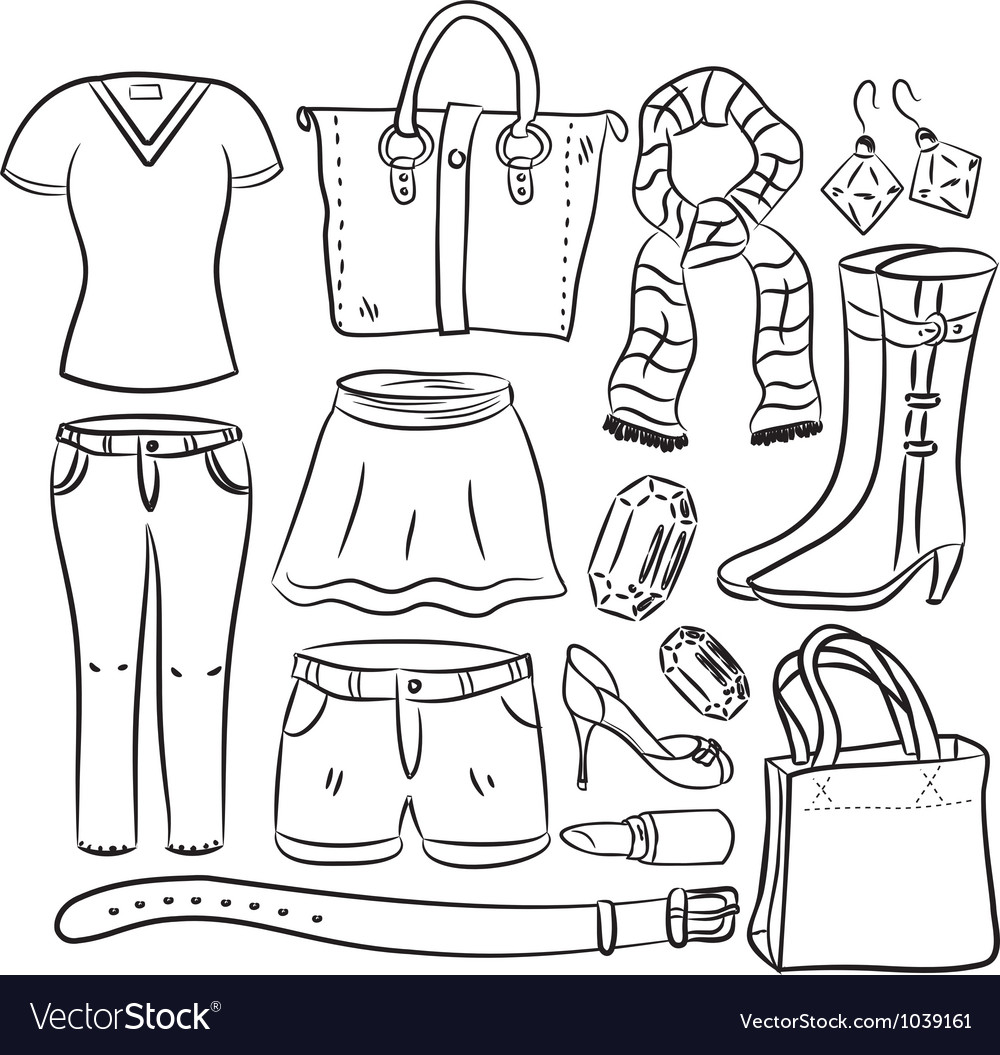 Shopping item vector