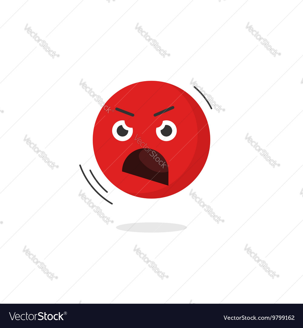 Angry emoticon face icon isolated shouting vector