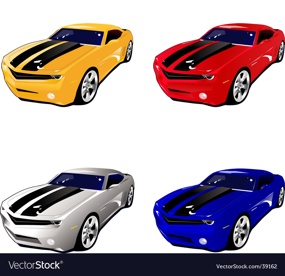 Camaro muscle car vector
