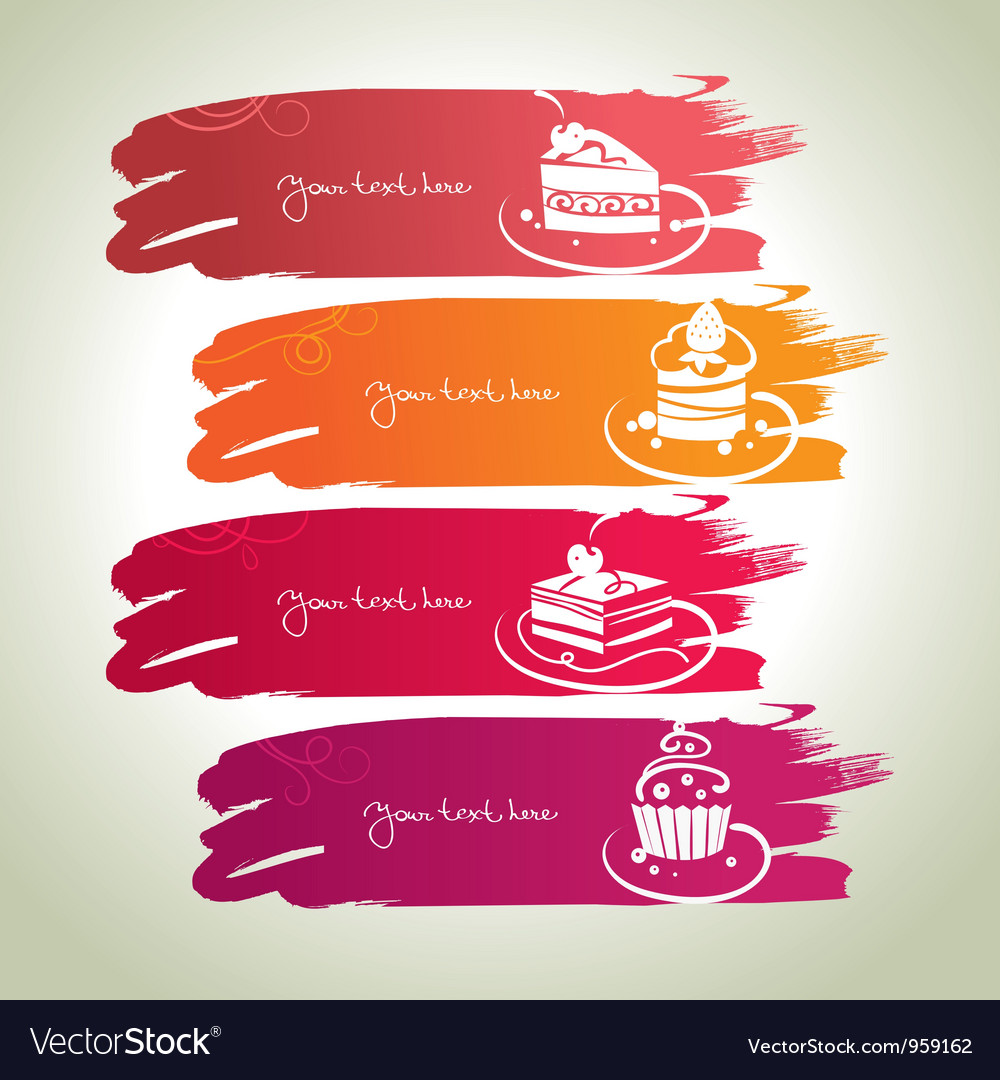 Sweet banners vector