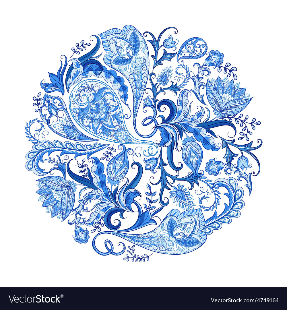 Paisley decorative pattern vector
