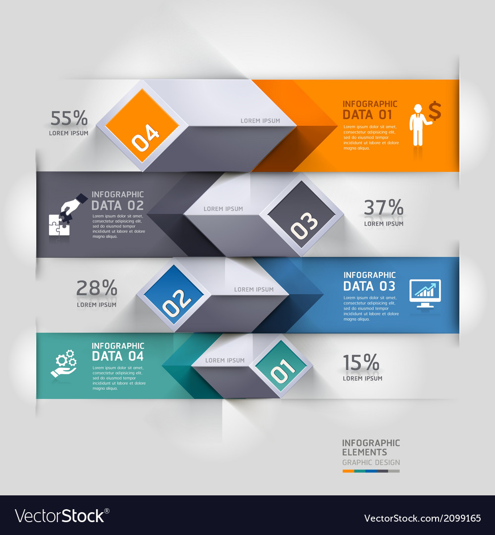 3d business diagram infographics template vector
