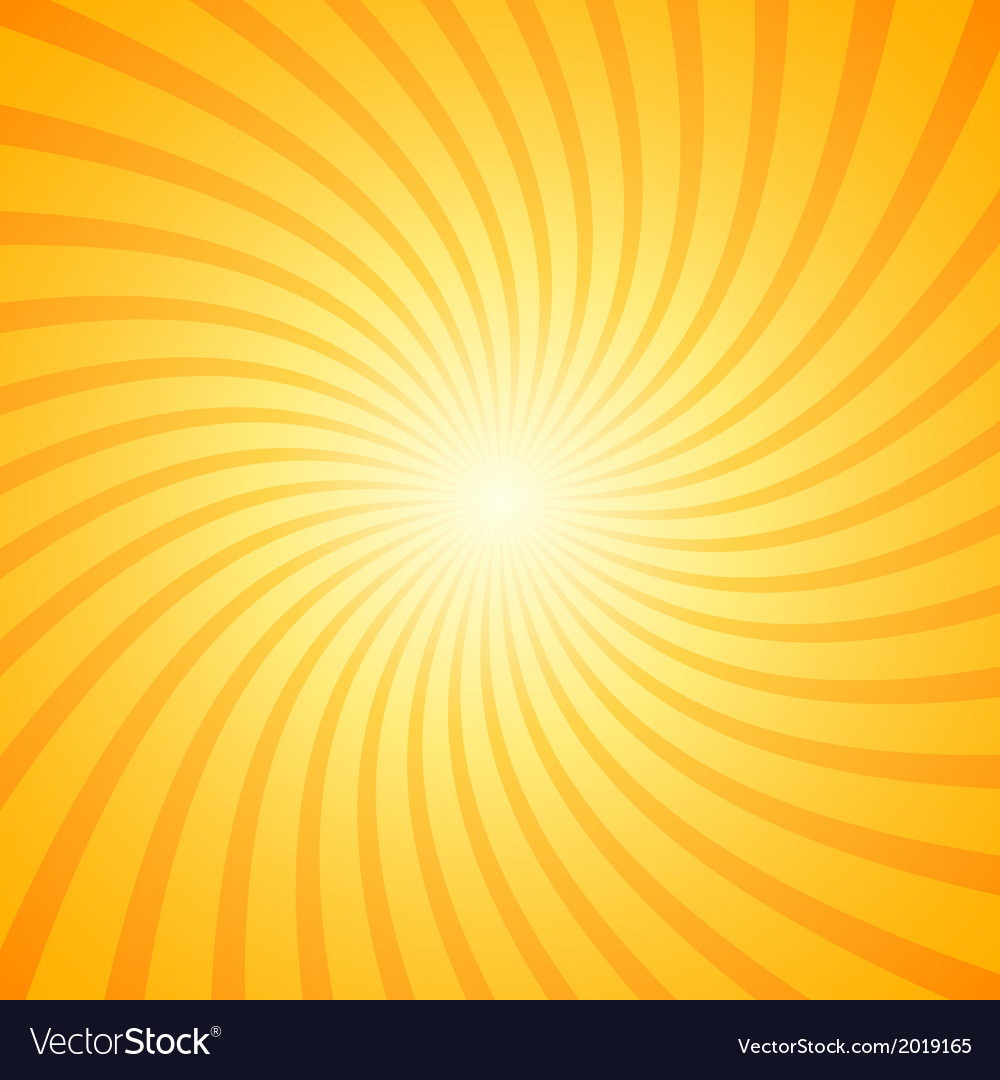 Orange color burst background vector