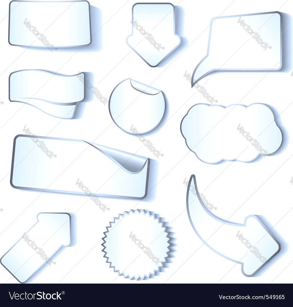 Stickers tags and labels vector