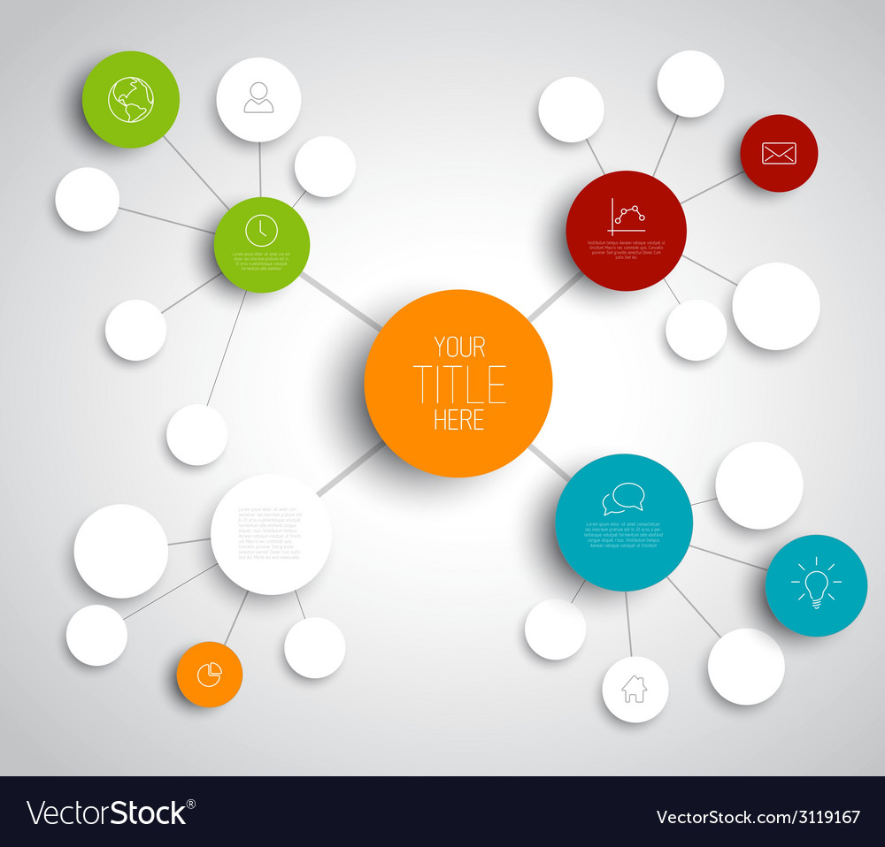 Abstract mind map template vector