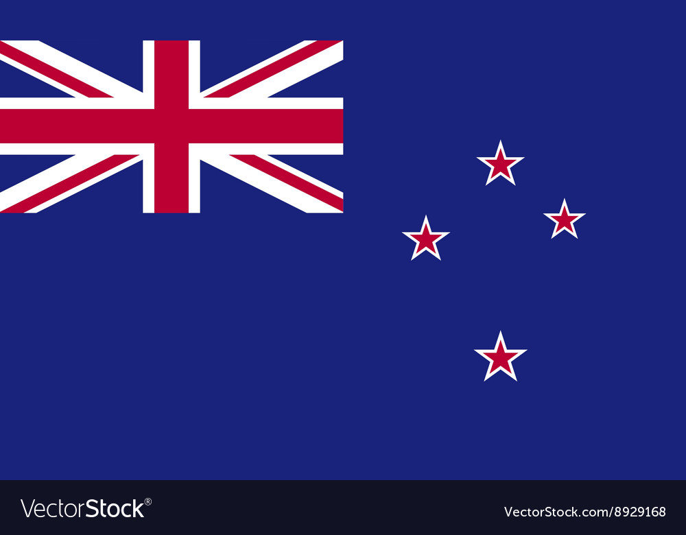 New zealand flag image vector