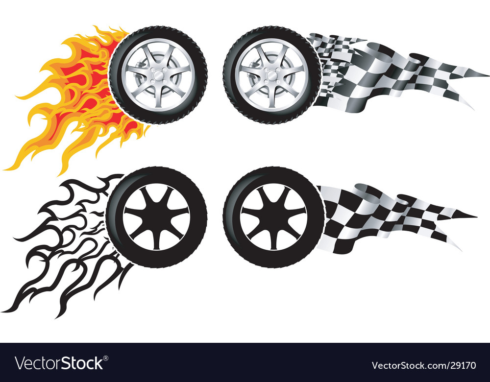 Sports race emblems vector