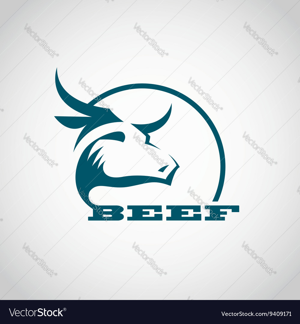 Beef meat icon vector