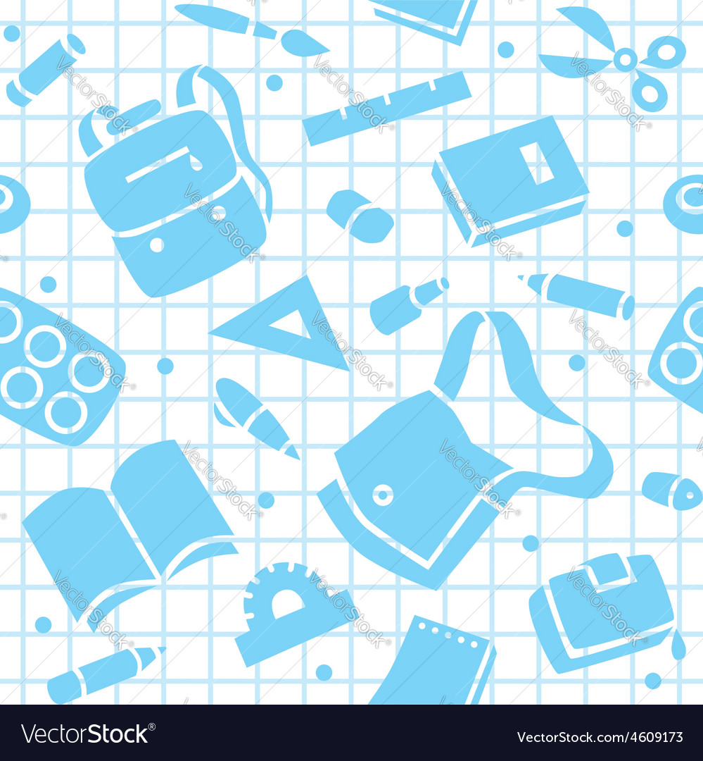 School pattern with education supplies vector