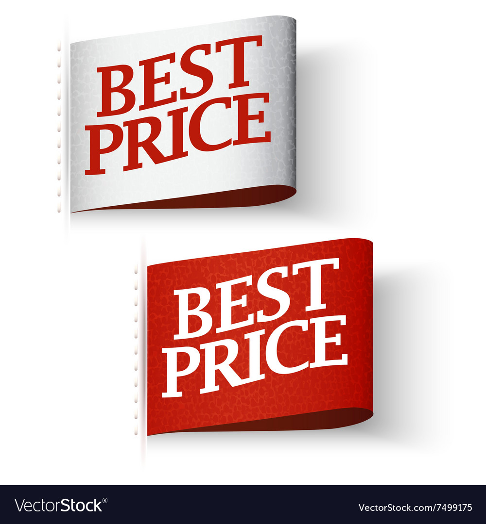 Pricetag labels best price message set vector