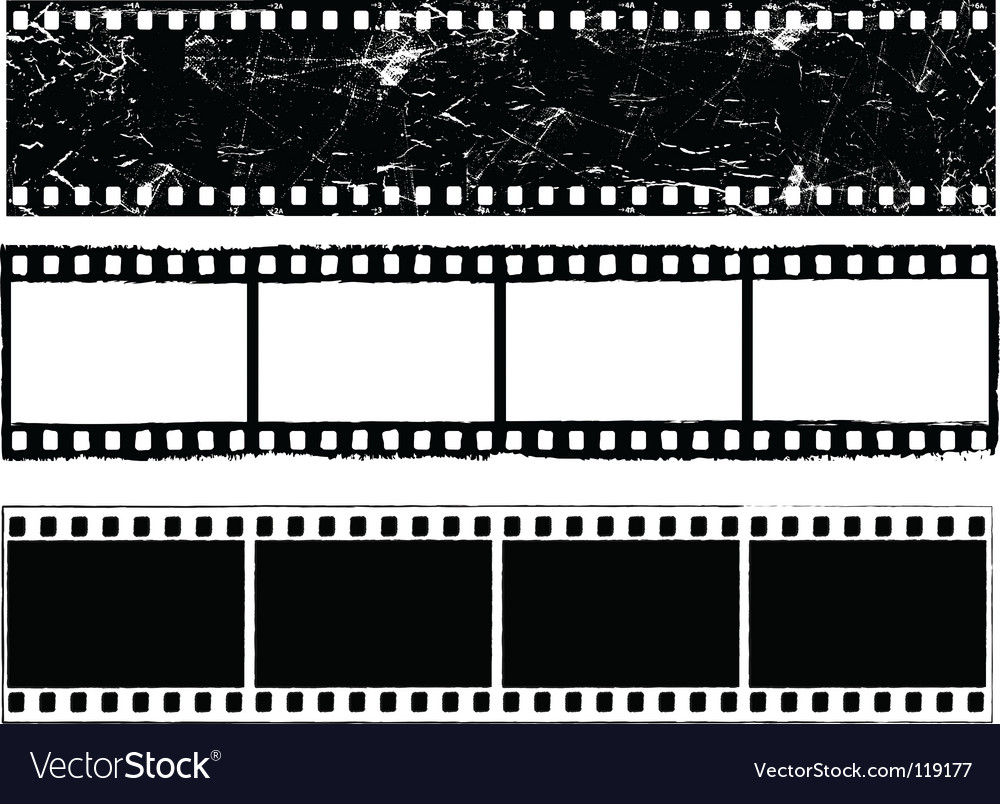 Grunge film strips vector