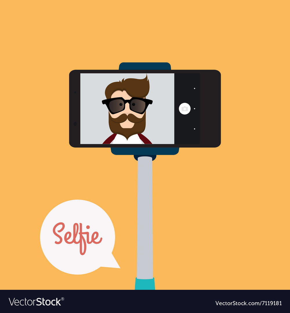 Cute selfie background vector