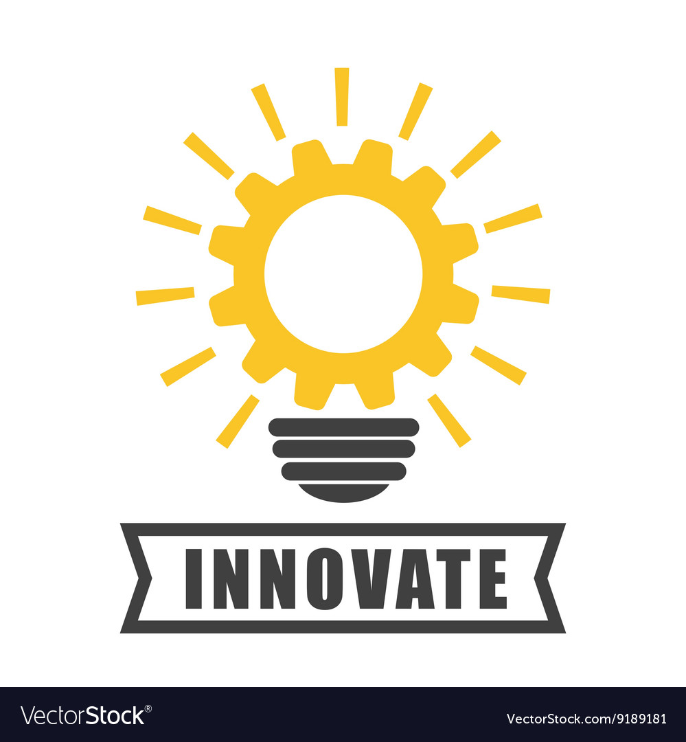 Innovate disign idea icon flat vector