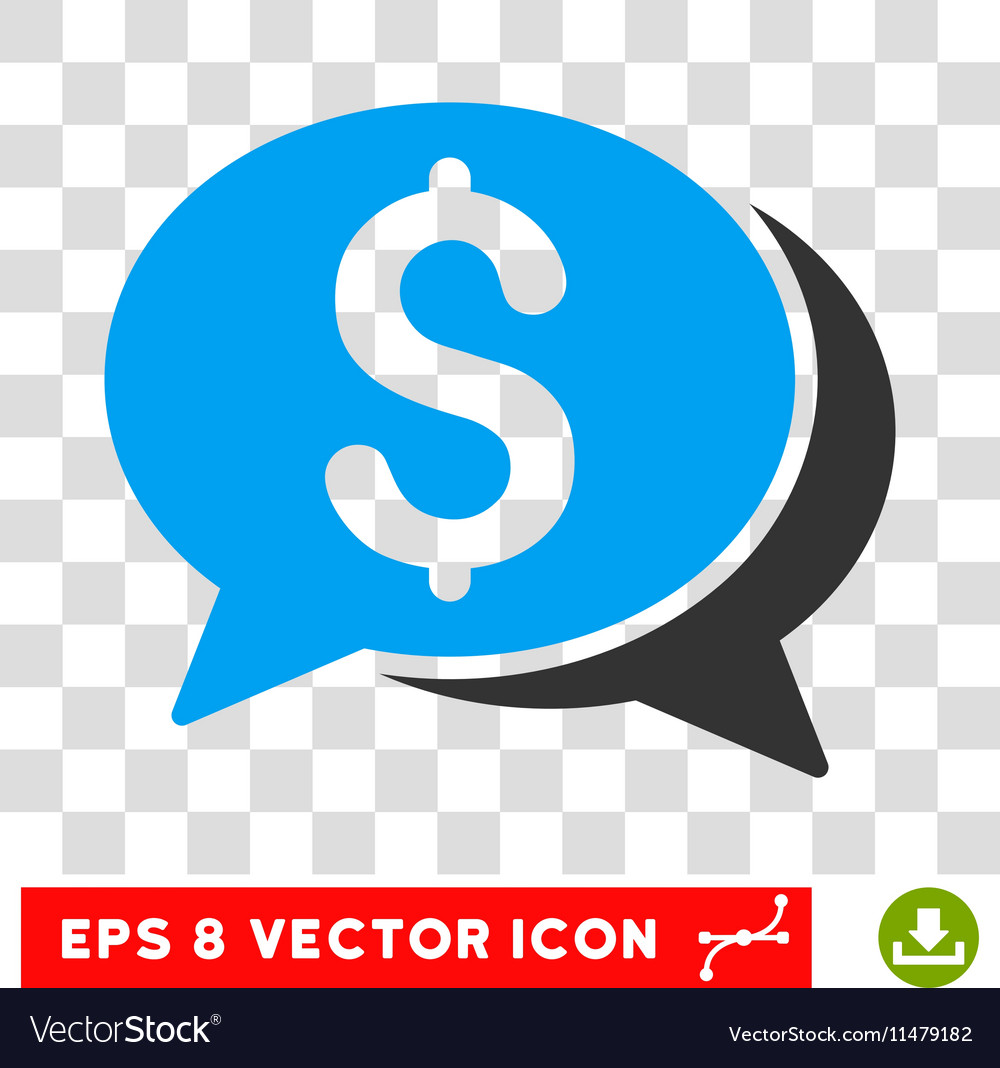 Financial chat eps icon vector