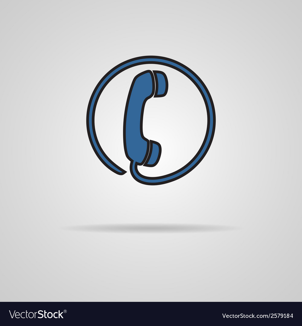 Black telephone booth sign with shadow vector
