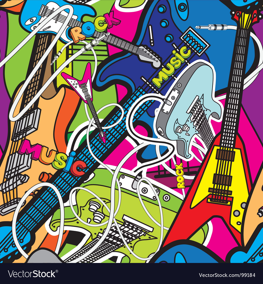 Guitars background vector