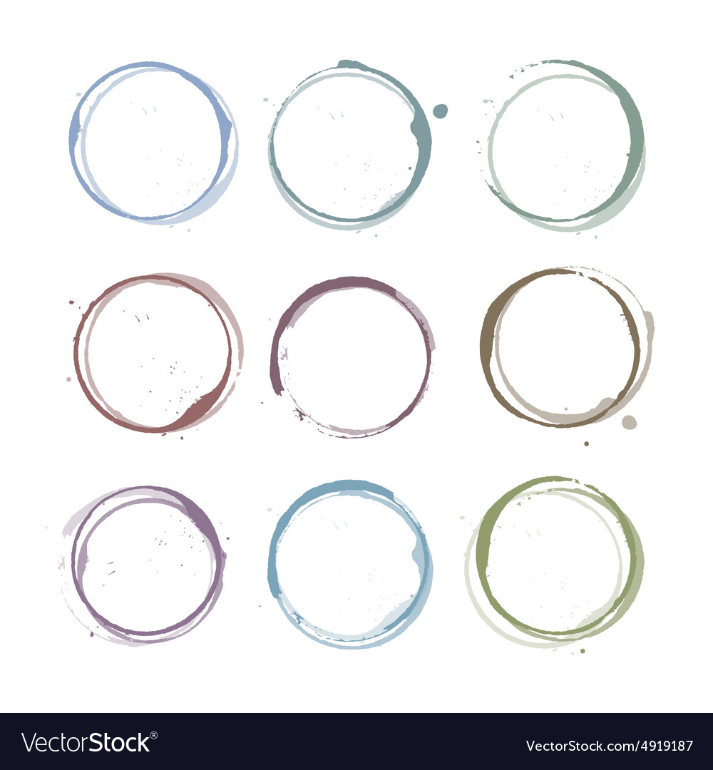 Coffee stain circles vector
