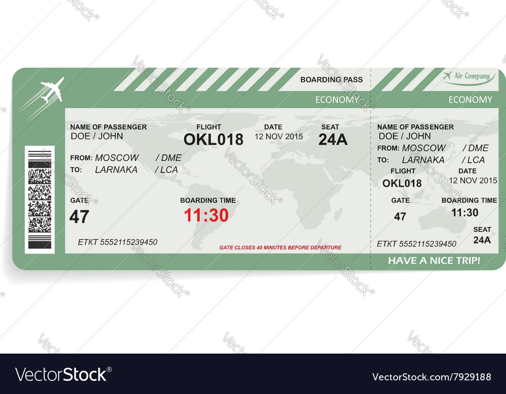 Pattern of boarding pass vector