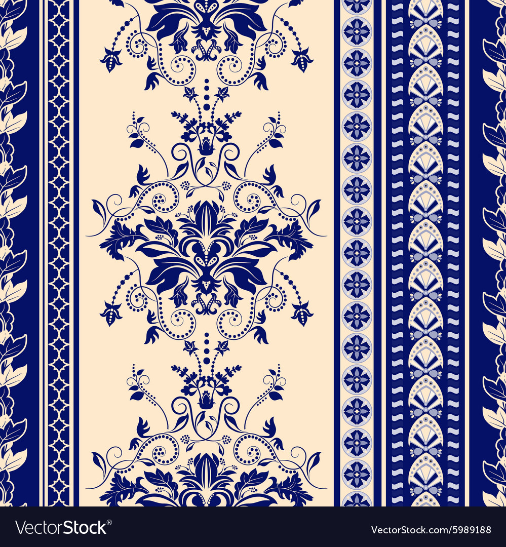 Striped seamless pattern damask background vector