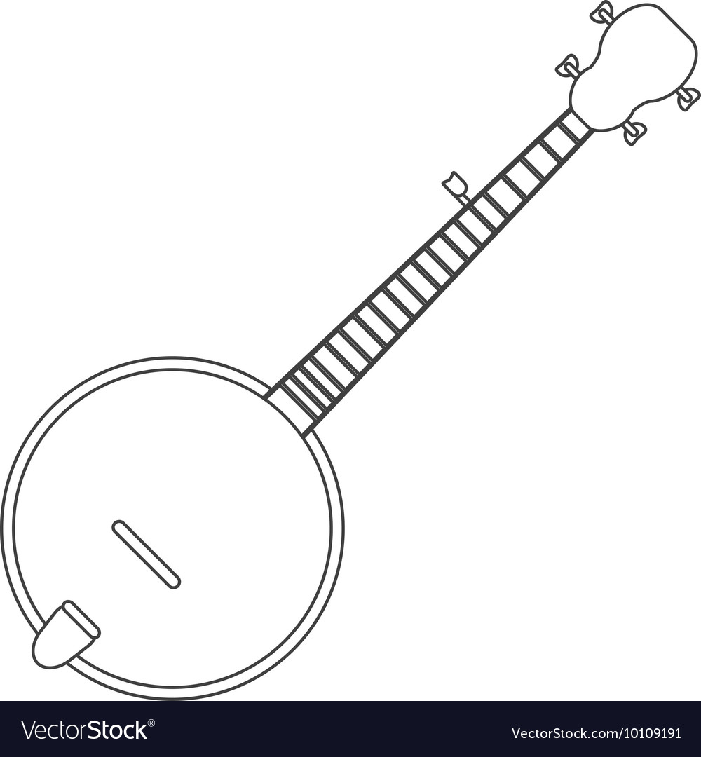 Single banjo icon vector