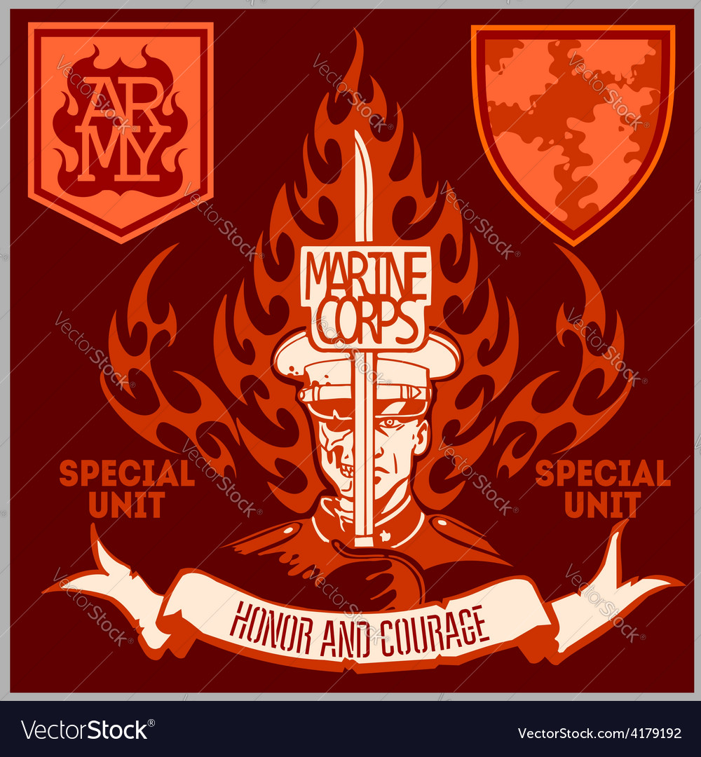 Special unit military patch  set vector