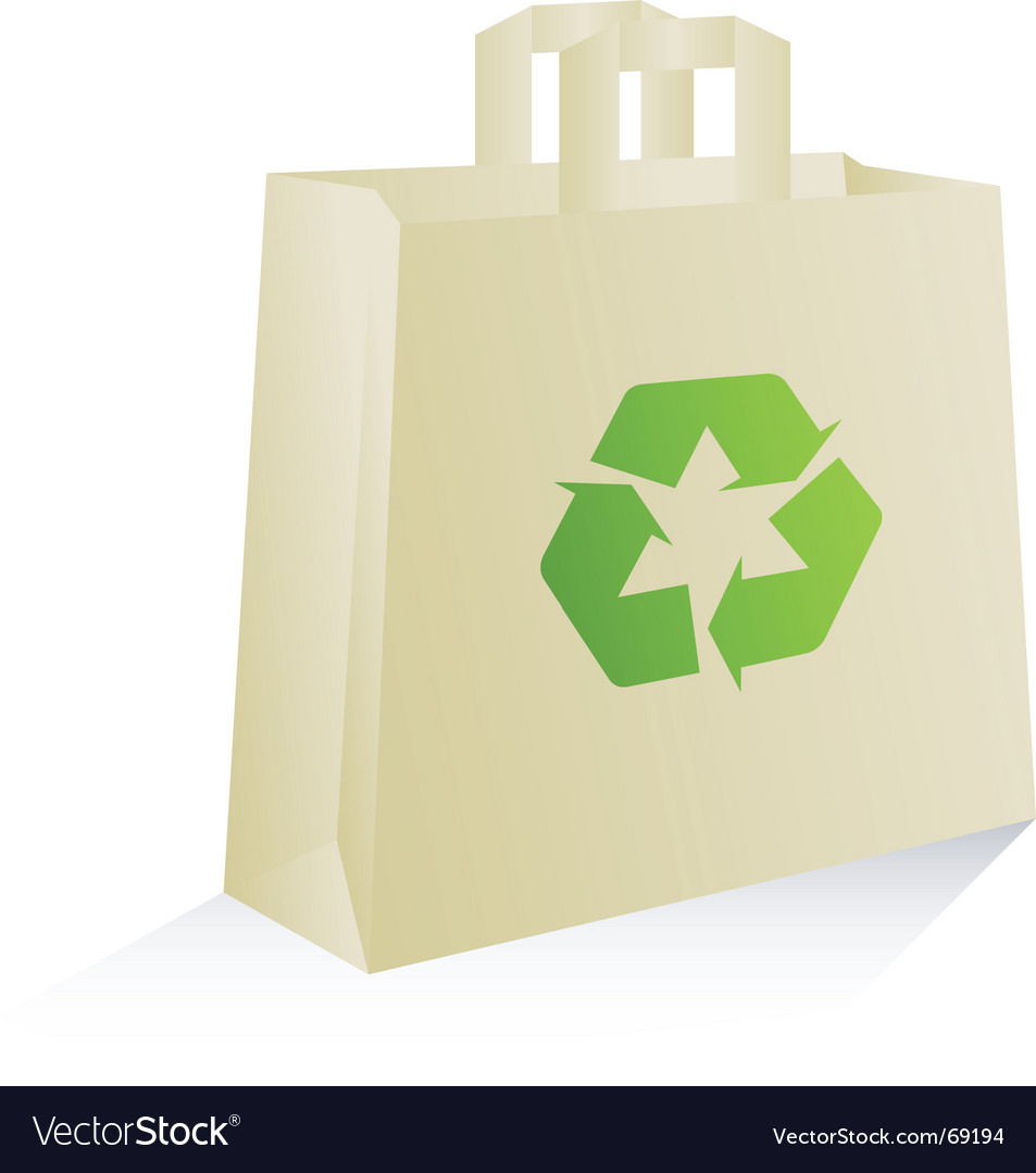 Eco bag vector