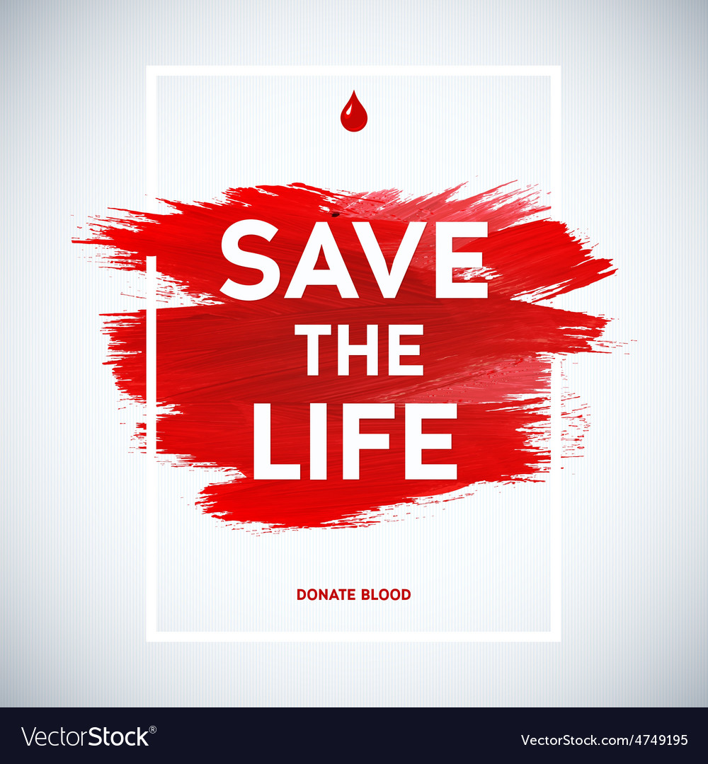 Creative blood donor day motivation vector