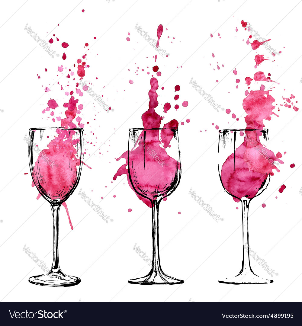 Wine  sketch and art style vector