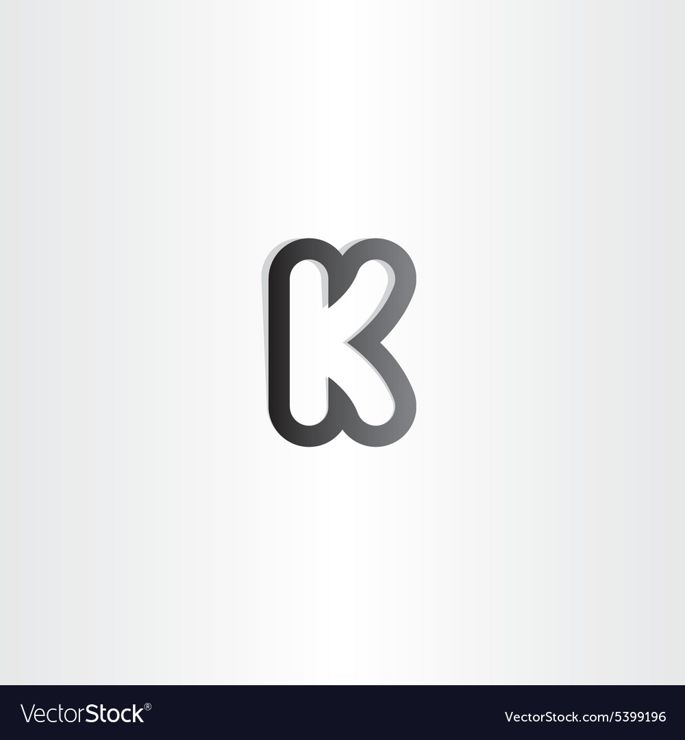 Black letter k logotype icon vector
