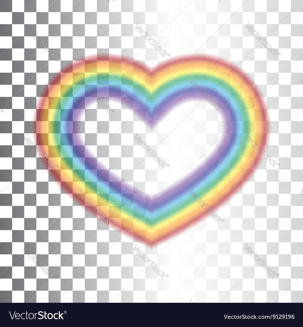 Rainbow icon heart transparent vector