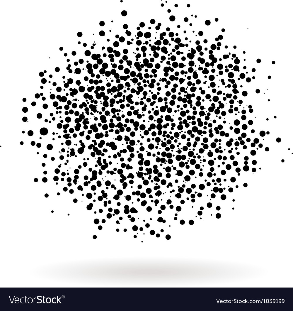 Blot of dots vector