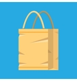 Grocery empty paper bag vector image