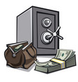 safe and dollars vector image