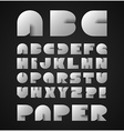 Decorative Alphabet With Origami Object vector image
