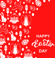 easter angel card red vector image