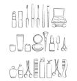 graphic cosmetic icon set vector image