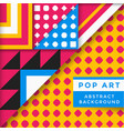 abstract pop art background vector image