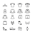 Cloth and Accessory Icons Line vector image