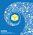 cube icon Nice set of beautiful icons twisted vector image
