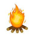 festa junina fire icon flat cartoon style vector image