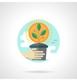 Green sprout detailed flat color icon vector image