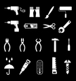 Hand tools and diy tools set of icons isolated sy vector image