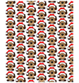 holidays seamless pattern with funny dog happy vector image